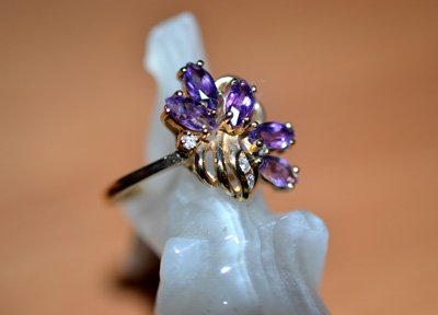 Cluster Amethyst Ring