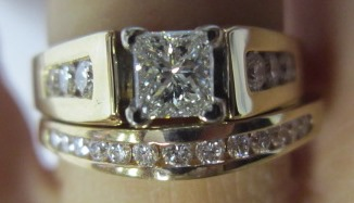 Princess Square Cut Diamond with Channel Setting